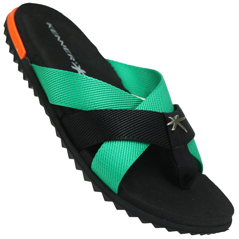 Kenner Chinelo Preto Rhaco Kenner e Spider Duo Chinelo verde 6qSES4