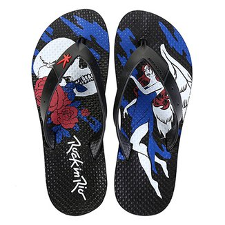 Chinelo Kenner Skull And Angel Rock In Rio Masculino