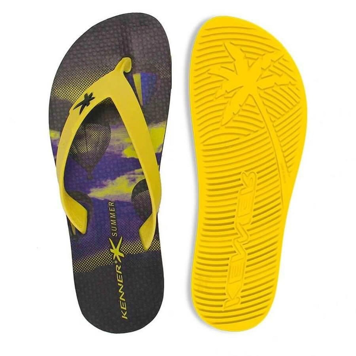Summer Kenner Preto Chinelo Amarelo e Chinelo Air Kenner qREtTt