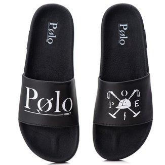 Chinelo Masculino Slide Polo Efect Sandália com sola macia e confortável