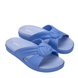Chinelo Melissa Plush Slide Azul Feminino