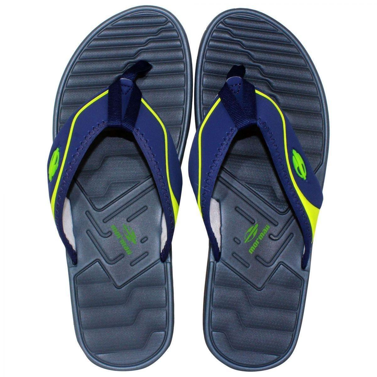 f50b89ac9ad46 Chinelo Mormaii Quiver Pro Dedo Ad Masculino - Azul e Verde - Compre Agora