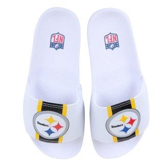 Chinelo NFL Pittsburgh Steelers New Era Slide Masculino