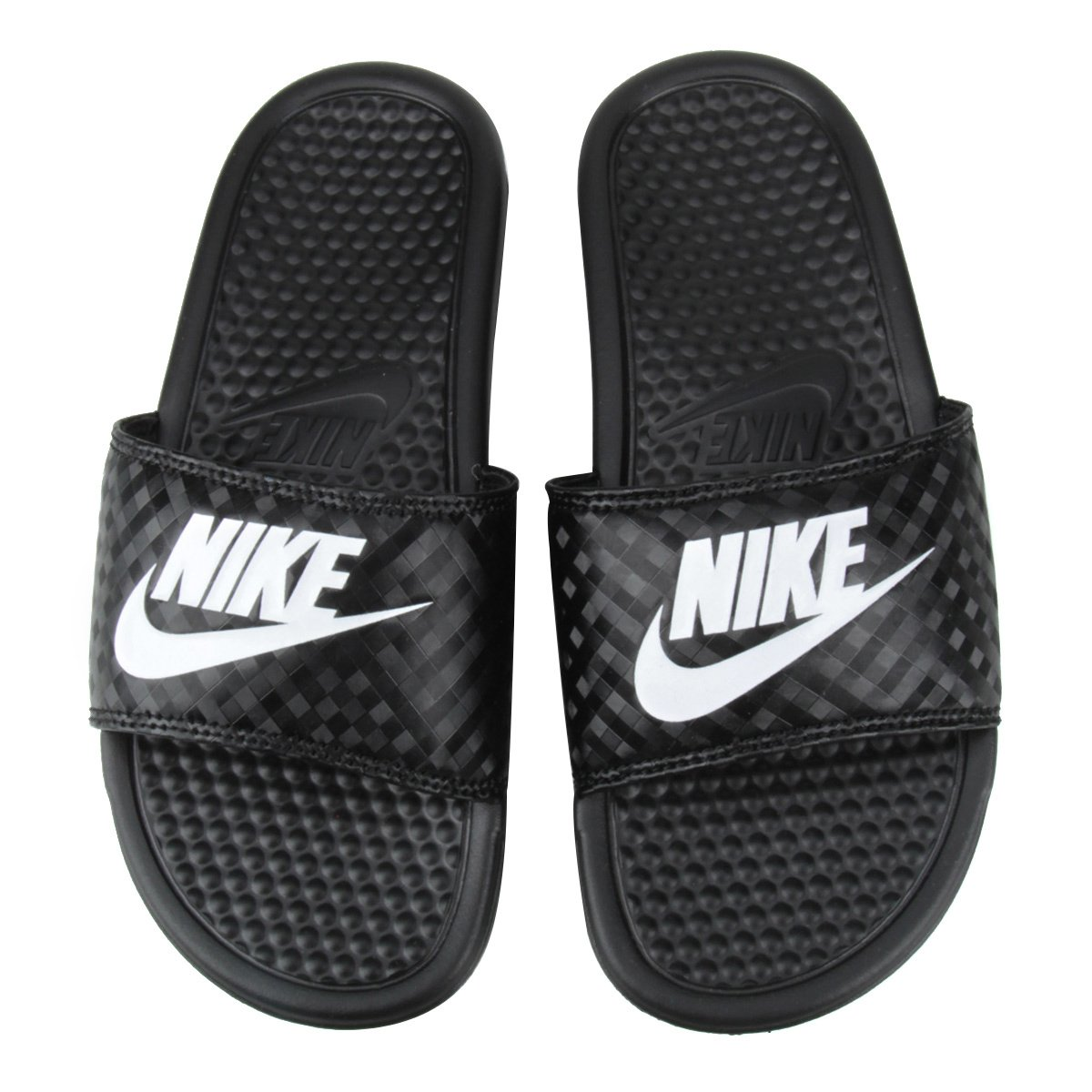 59715dffc7f Chinelo Nike Benassi JDI Slide Feminina - Preto e Branco - Compre Agora