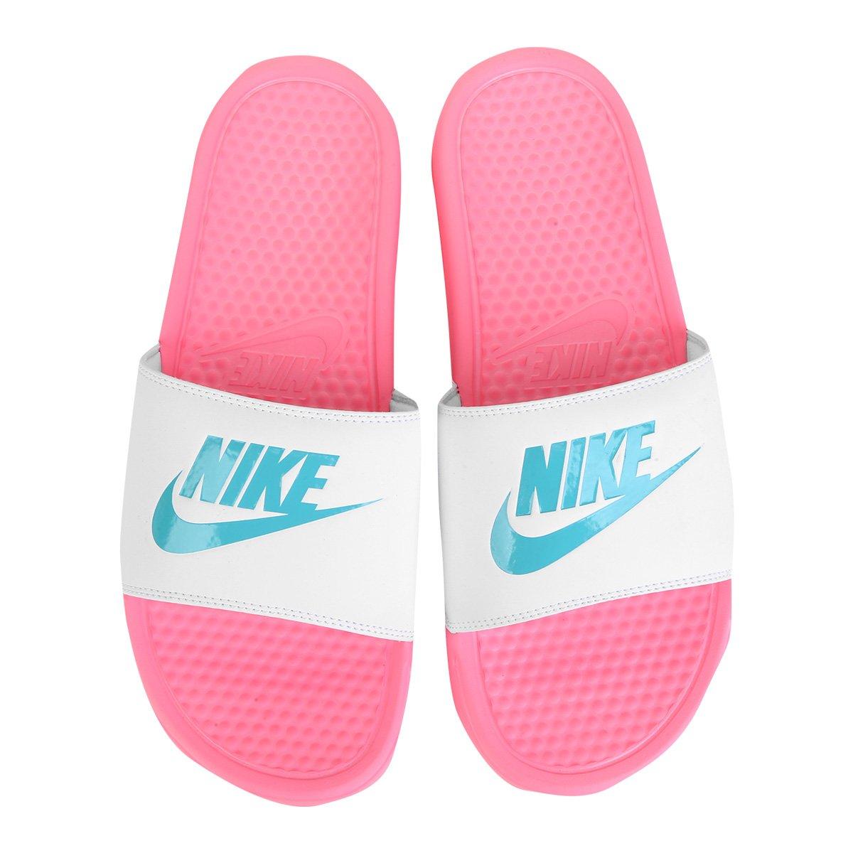 Chinelo Nike Benassi Jdi Slide Feminino Azul E Branco