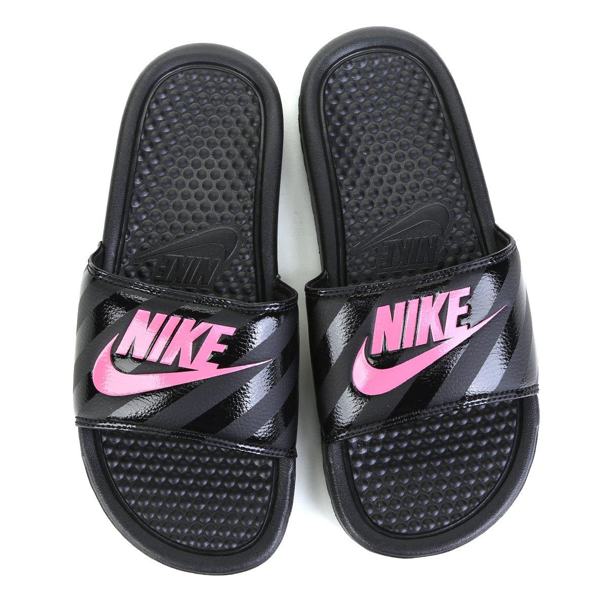 Chinelo Nike Benassi Jdi Slide Feminino Pink E Preto