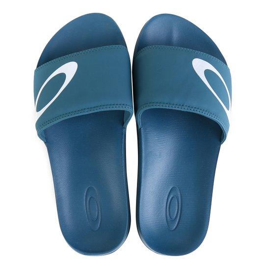 Chinelo Oakley Malibu Slide Masculino - Azul Petróleo