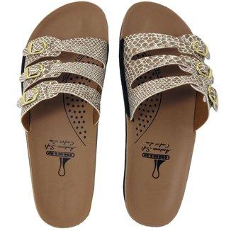 Chinelo Ortopédico Rossi Shoes Feminino 3 Fivelas