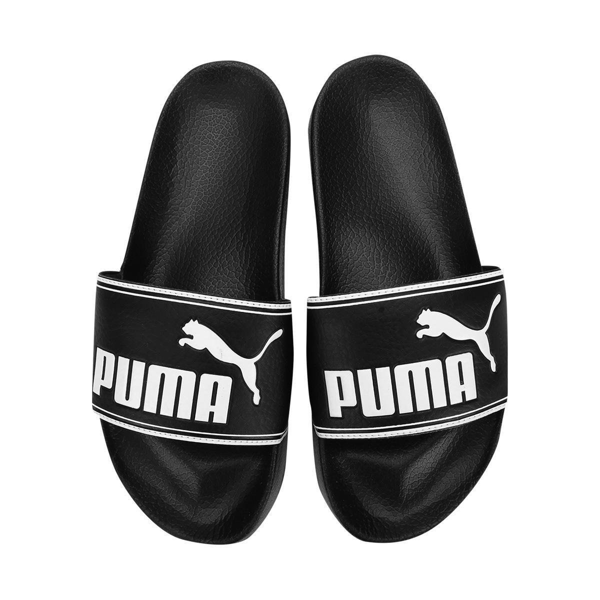 Chinelo Puma Leadcat Slide - Branco e Preto - Compre Agora  437fb197035
