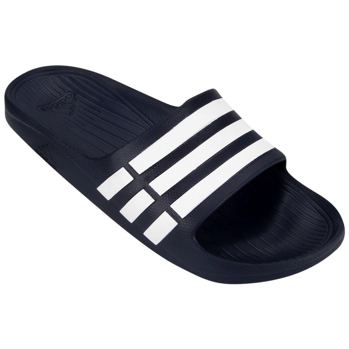 944e97ac6b3 Chinelo Slide Adidas Duramo - Marinho e Branco - Compre Agora
