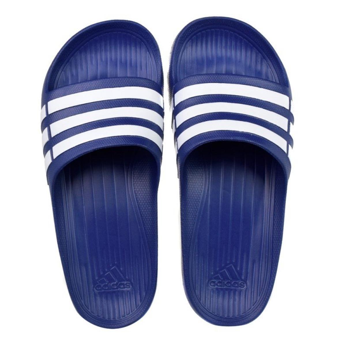 2e115dd5c40a Chinelo Slide Adidas Duramo - Azul e Branco - Compre Agora