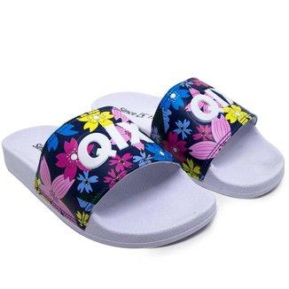 Chinelo Slide Feminino Qix Missy Floral