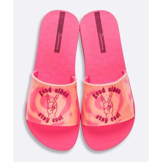 Chinelo Slide Ipanema Feminino Estampado Tie Dye - 10045240904 - Rosa