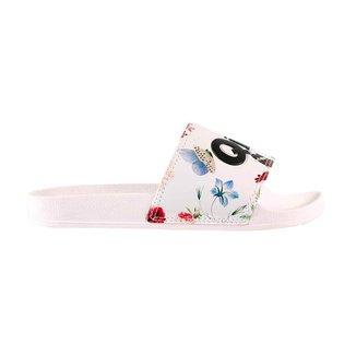 CHINELO SLIDE QIX FLORES Cor:Branco/Floral1;Tamanho:37-38