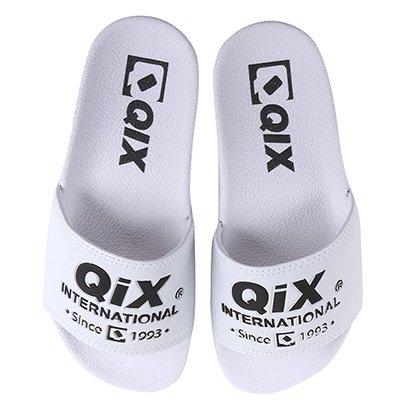 Chinelo Slide Qix International Logo