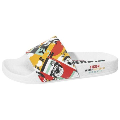 Chinelo Slide Tg Print Tigor T.Tigre Com Tira Larga Infantil