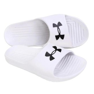 Chinelo Under Armour Core - Masculino Cor: Branco+Preto