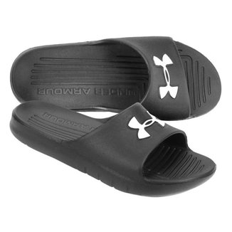 Chinelo Under Armour Core Preto e Branco
