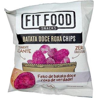 Chips Crocante Batata Doce Roxa Fit Food 40g