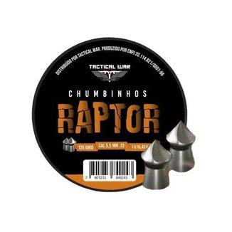 Chumbinho Tactical War Raptor 5.5mm Com 125und