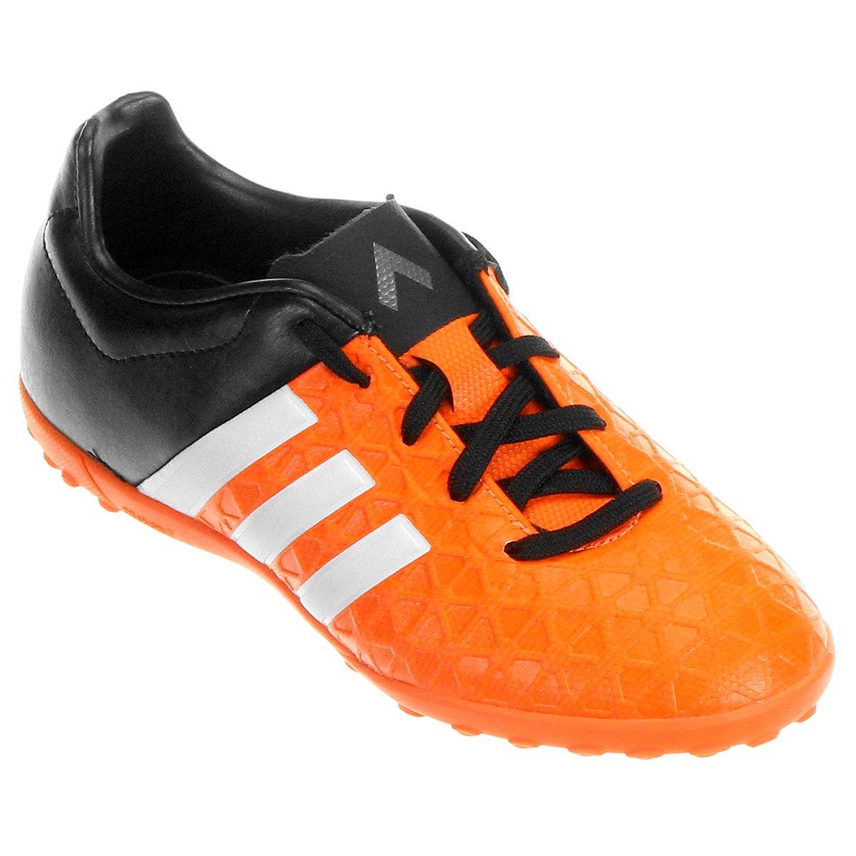 Chuteira Adidas Ace 15.4 TF Society Juvenil - Compre Agora  61c454624bc56