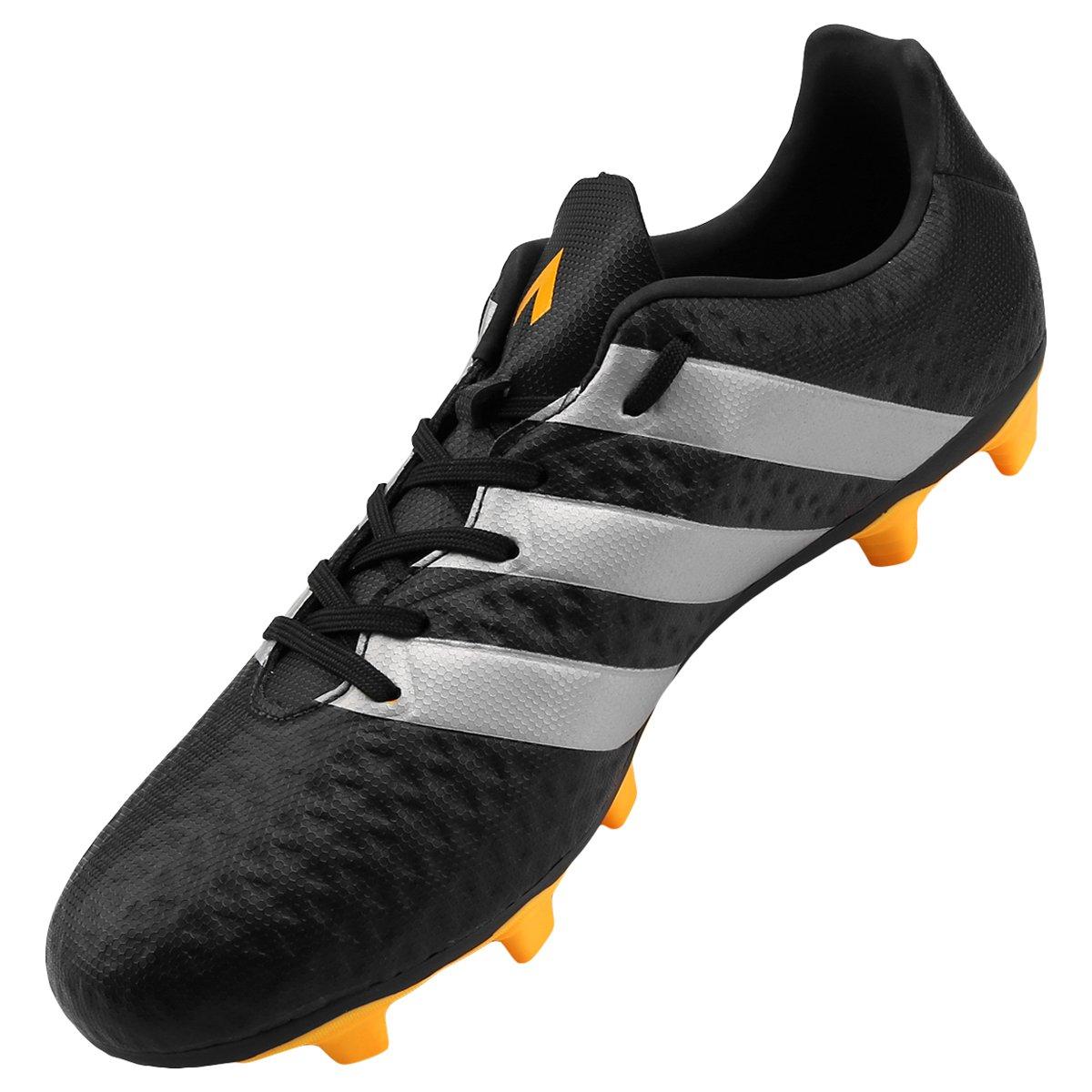 Chuteira Adidas Ace 16.4 FXG Campo - Preto e Amarelo - Compre Agora ... 28d5c5dc79b6a