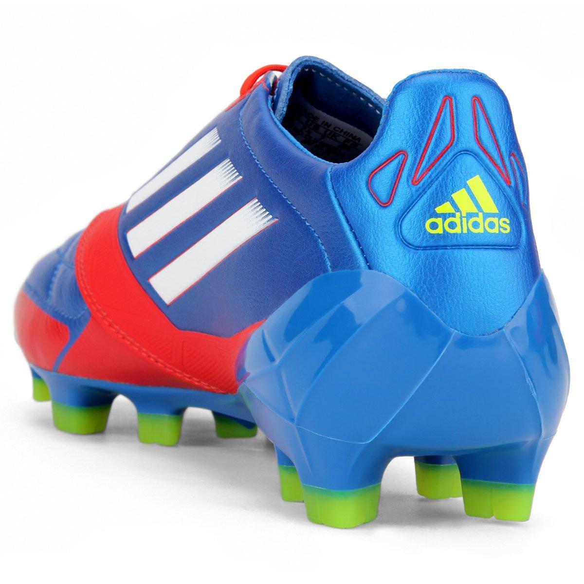 dfe090557afef Chuteira Adidas F50 Adizero TRX FG - Azul e Vermelho