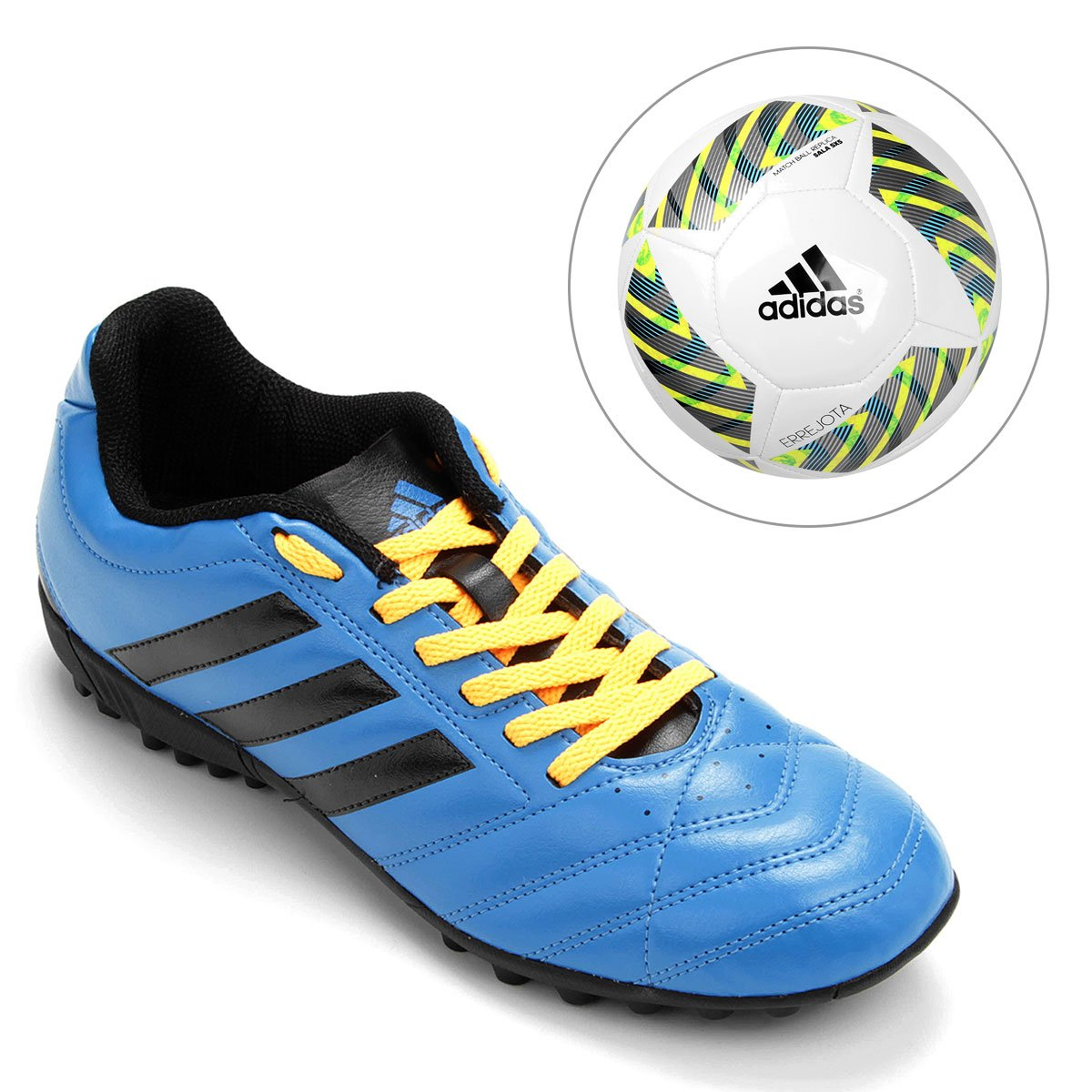 a019b052d ... Chuteira Adidas Goletto 5 TF Society + Bola Adidas Errejota Fifa Sala  5X5 - Compre Agora ...