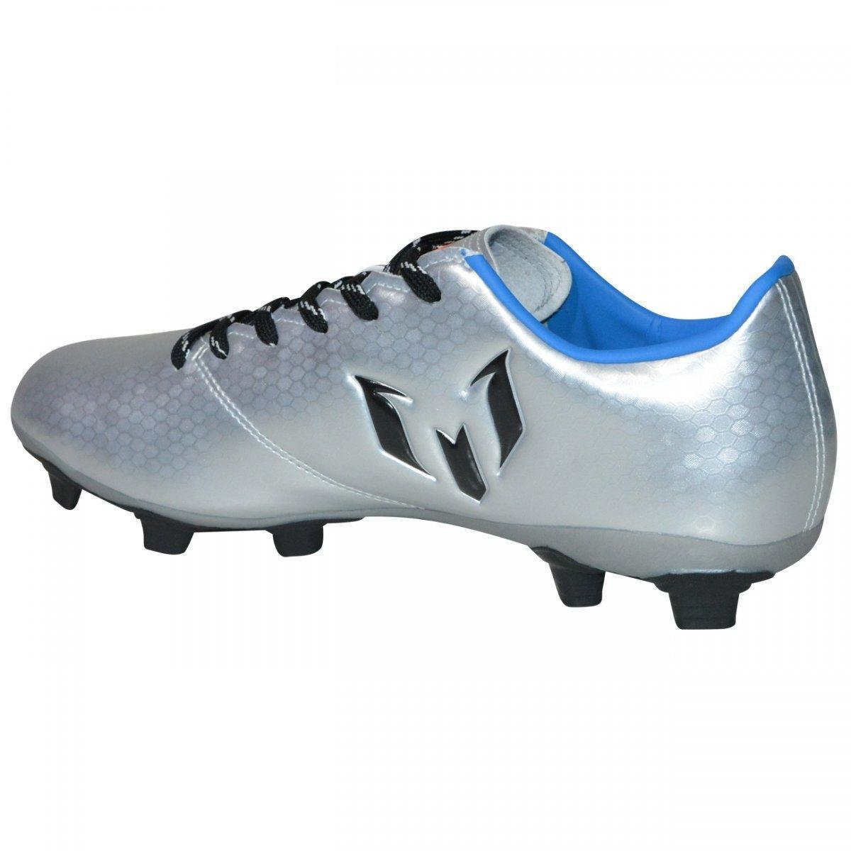4646bedb75 Chuteira Adidas Messi 16.4 FXG Campo - Prata e Azul - Compre Agora ...