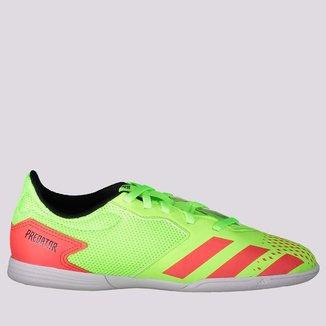 Chuteira Adidas Predator 20.4 In Futsal Juvenil Verde