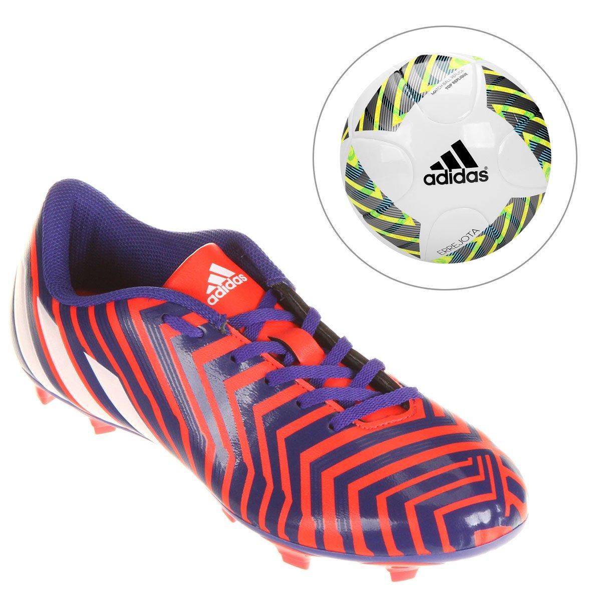 f5f39bdf85 Chuteira Adidas Predito Instinct FG Campo + Bola Adidas Errejota Fifa Top  Repliqe - Compre Agora