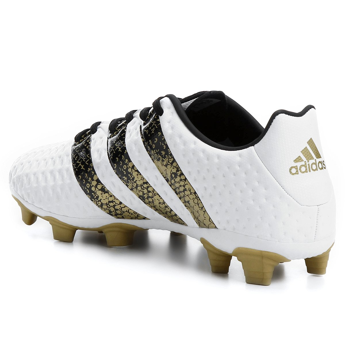 Chuteira Campo Adidas Ace 16.4 FXG Masculina - Branco e Preto ... a968bcb2321f3
