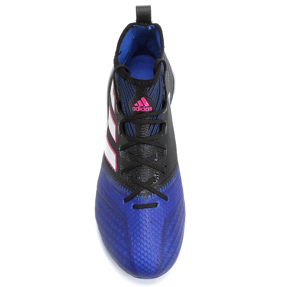 FG 17 Preto Chuteira e Azul 1 Campo Primeknit Masculina Ace Adidas Han6qwOYF