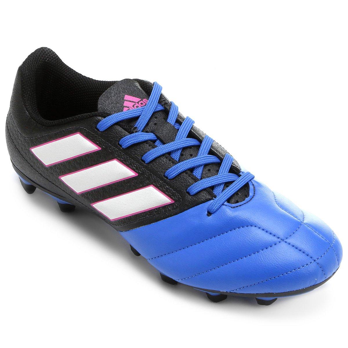on sale 7941c 7623c Chuteira Campo Adidas Ace 17.4 FXG - Preto e Azul