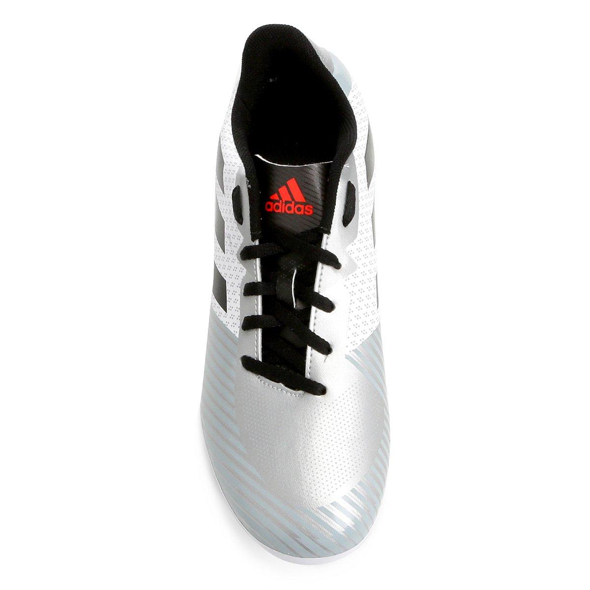 Chuteira Campo Adidas Artilheira 18 FXG - Branco e Preto - Compre ... 9952614585a92
