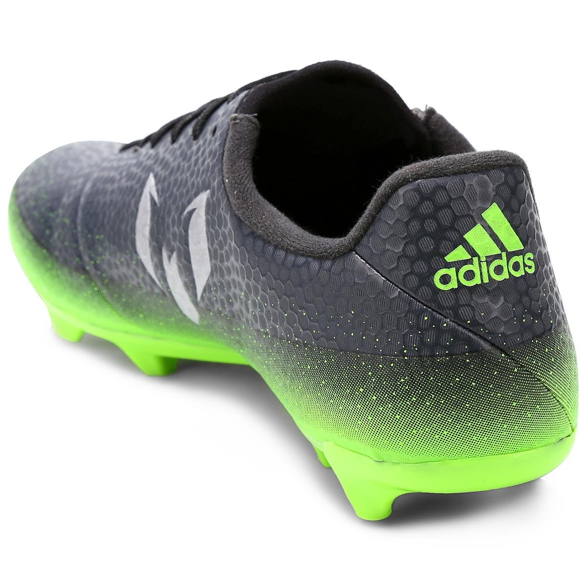 037ca31f4b Chuteira Campo Adidas Messi 16.3 FG Masculina - Chumbo e Verde Limão ...