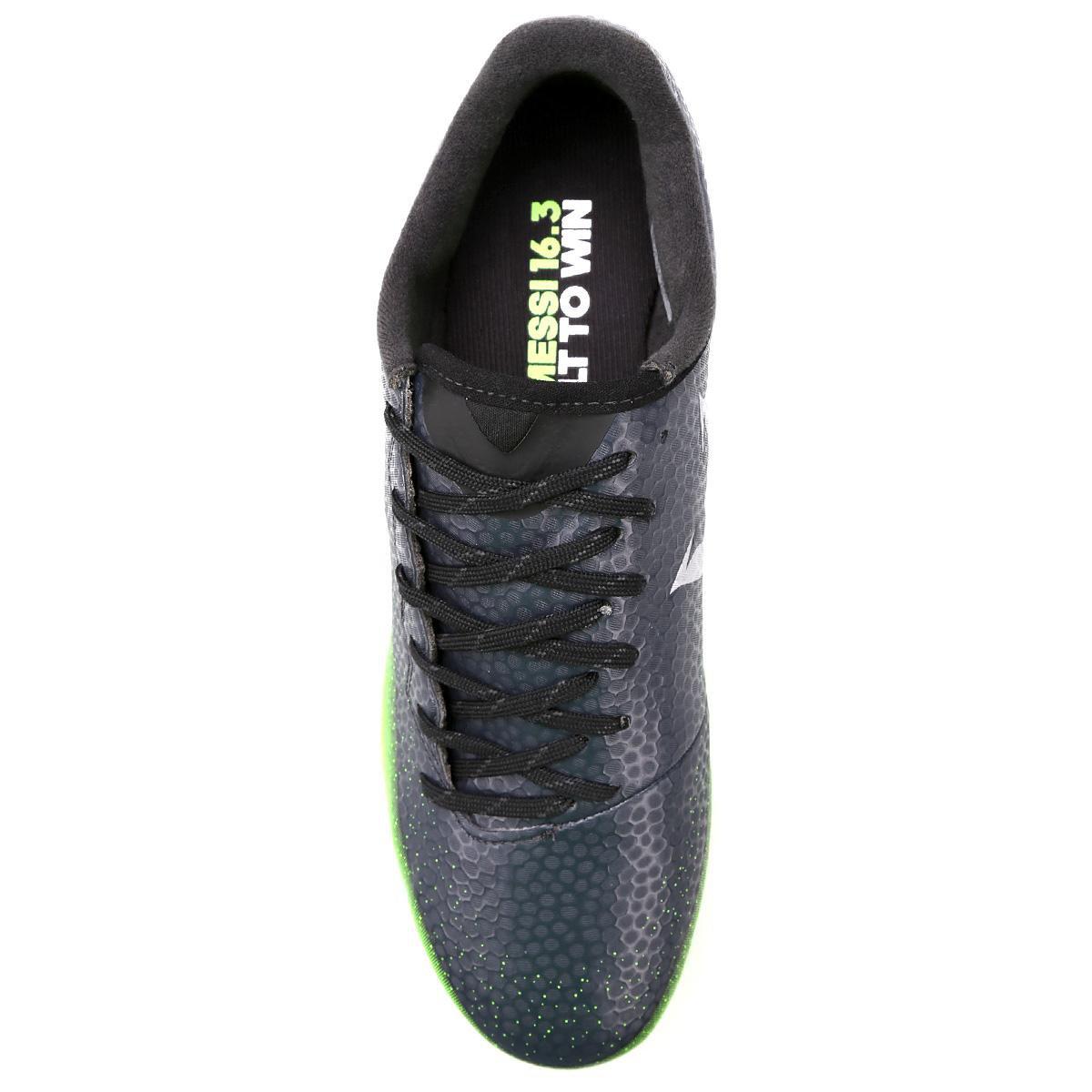 Chuteira Campo Adidas Messi 16.3 FG Masculina - Chumbo e Verde Limão ... 74e49fe7d5dba