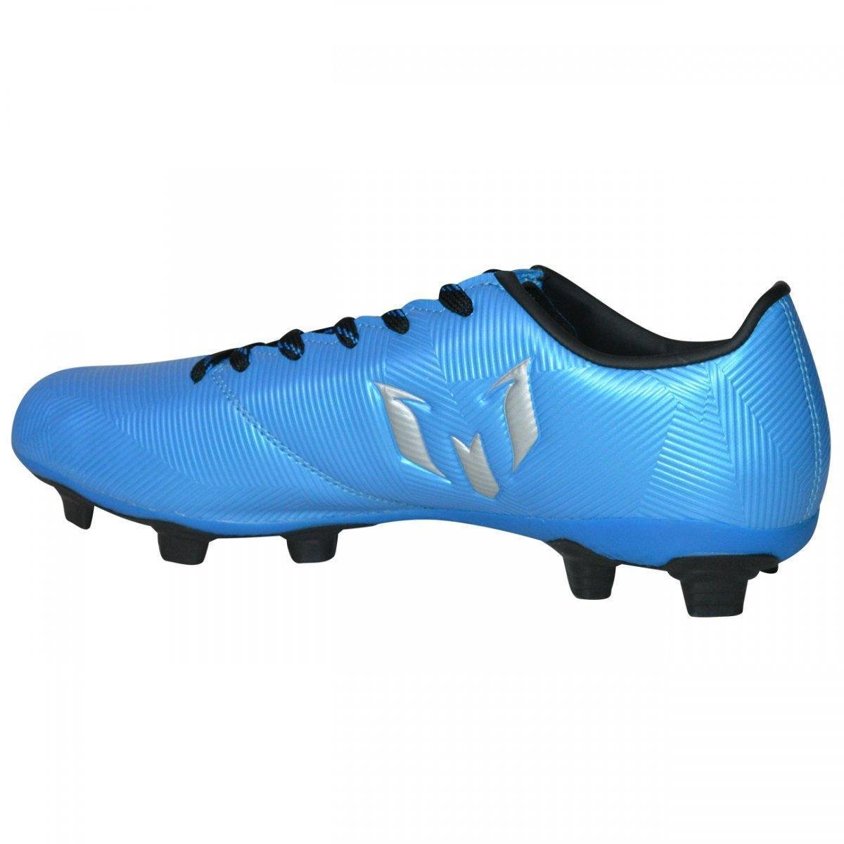 c622e3a79a Chuteira Campo Adidas Messi 16.4 FXG Masculina - Azul Turquesa e ...
