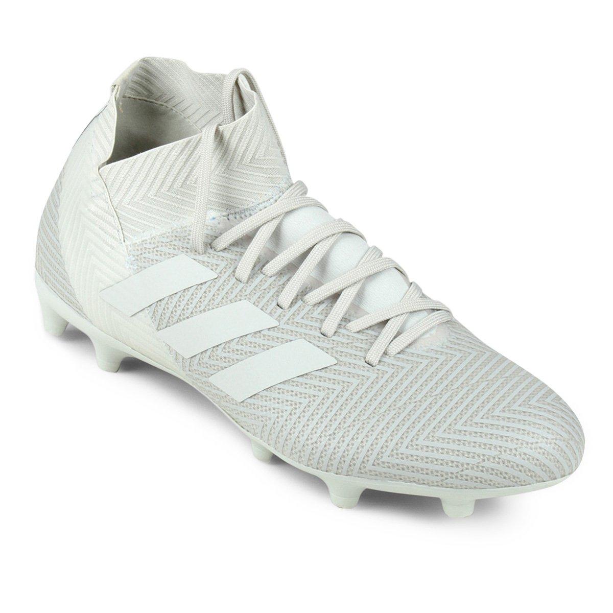 Chuteira Campo Adidas Nemeziz 18 3 FG - Branco - Compre Agora  0fbc3b1fc800c