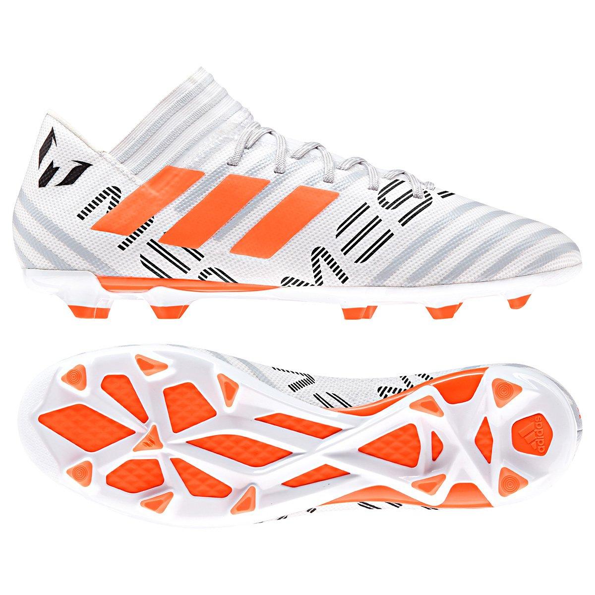 7dbbb706d976c Chuteira Campo Adidas Nemeziz Messi 17.3 FG Masculina - Cinza Claro -  Compre Agora