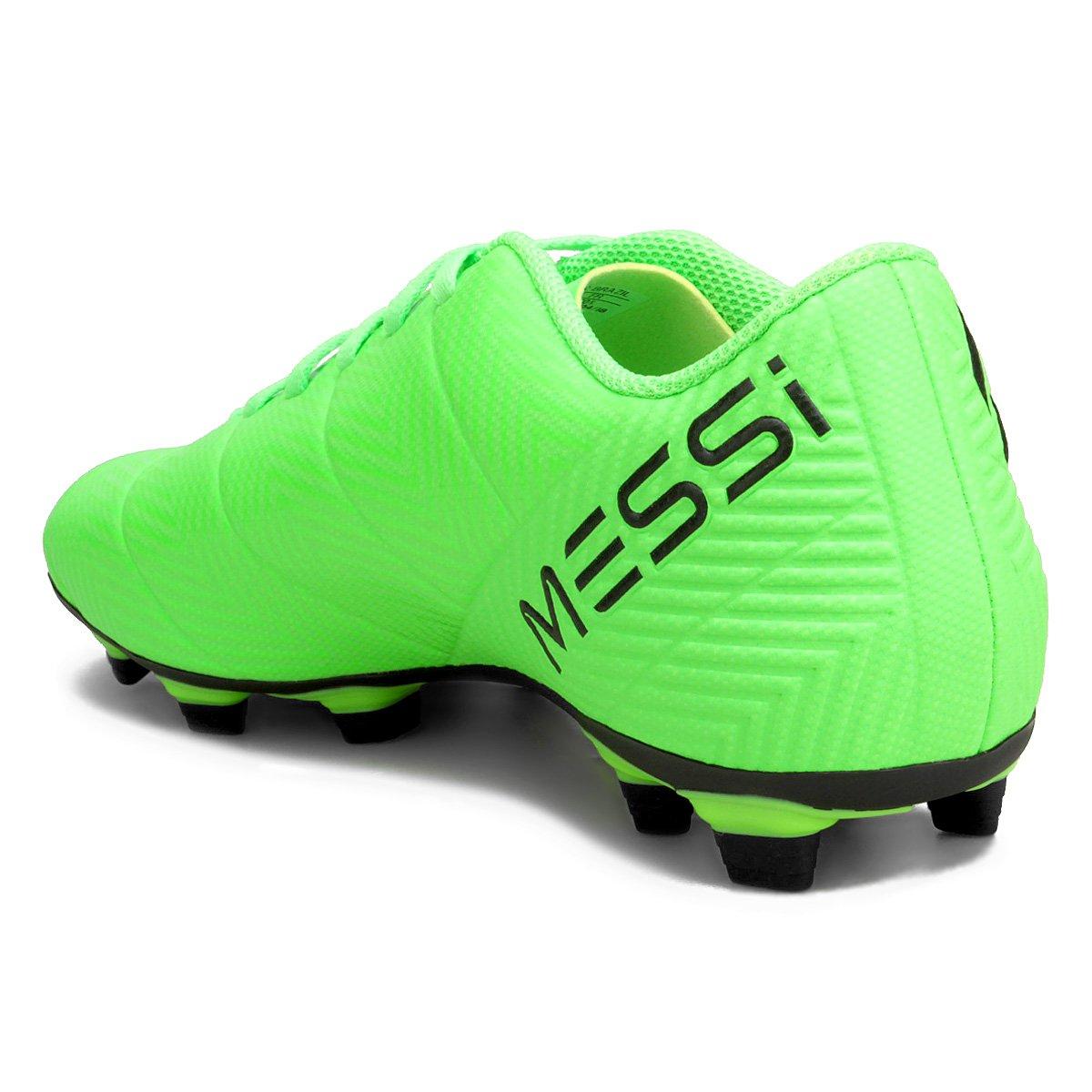 b2d959de55 Chuteira Campo Adidas Nemeziz Messi 18 4 FG - Verde e Preto - Compre ...