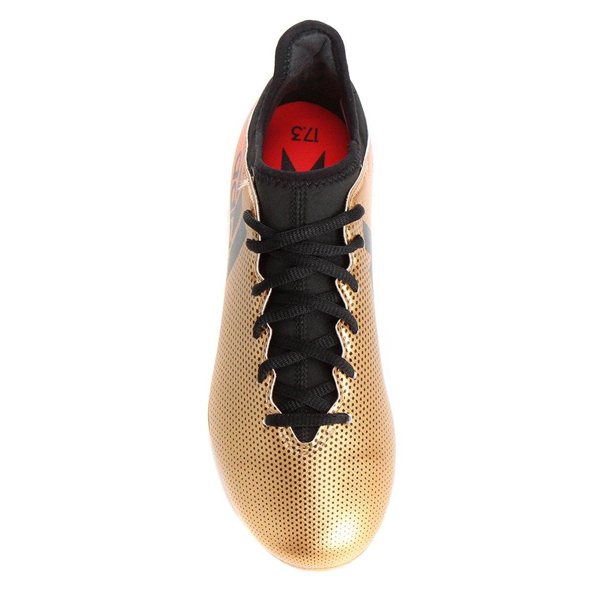 8fd1d1b534 Chuteira Campo Adidas X 17 3 FG - Dourado - Compre Agora
