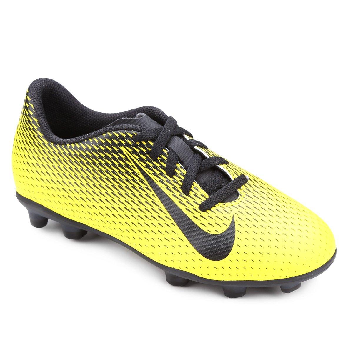 ff2988ad894e7 Chuteira Campo Infantil Nike Bravata II FG - Amarelo e Preto - Compre Agora