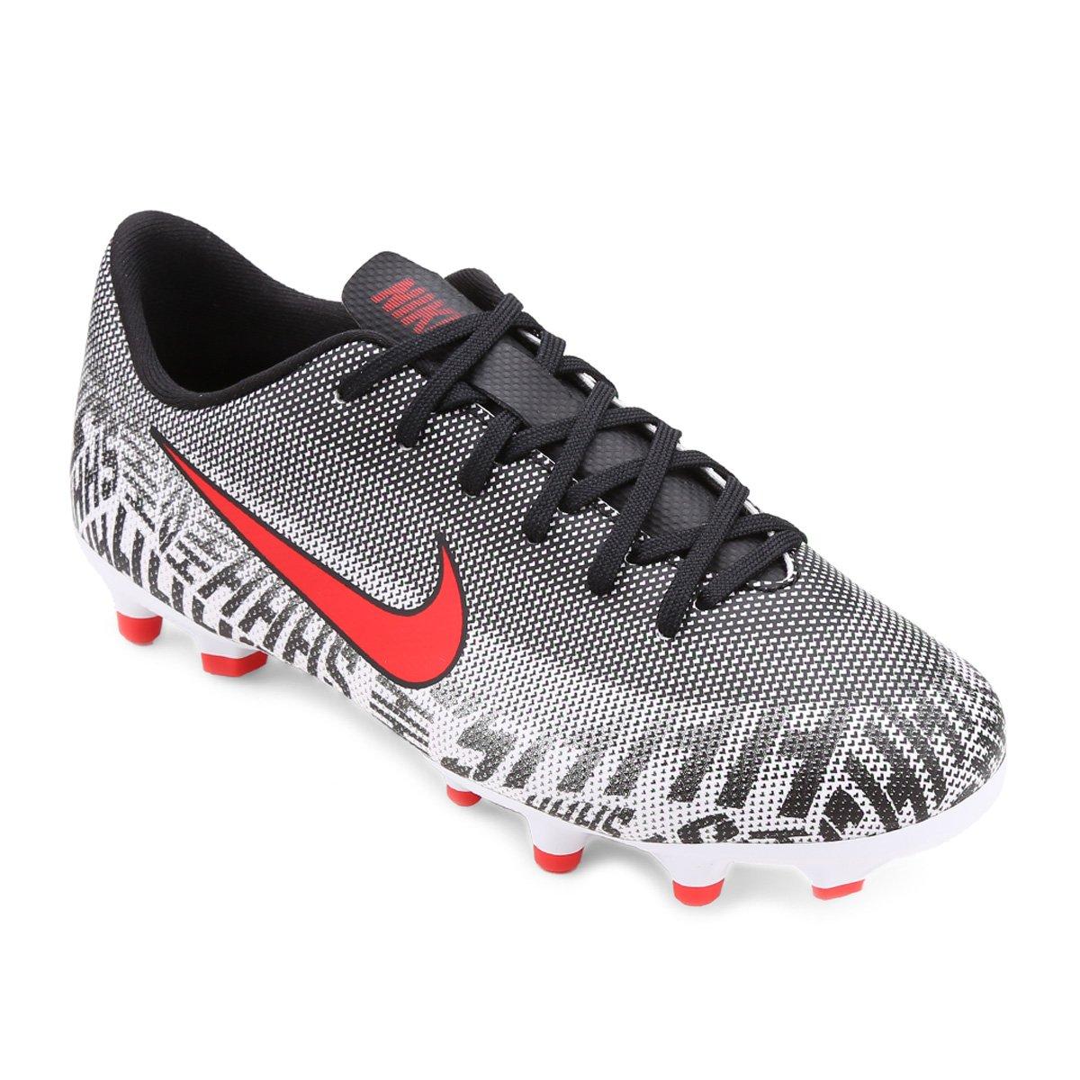 0f20af2c1b83c Chuteira Campo Infantil Nike Mercurial Vapor 12 Academy Gs Neymar Jr FG -  Branco e Vermelho - Compre Agora