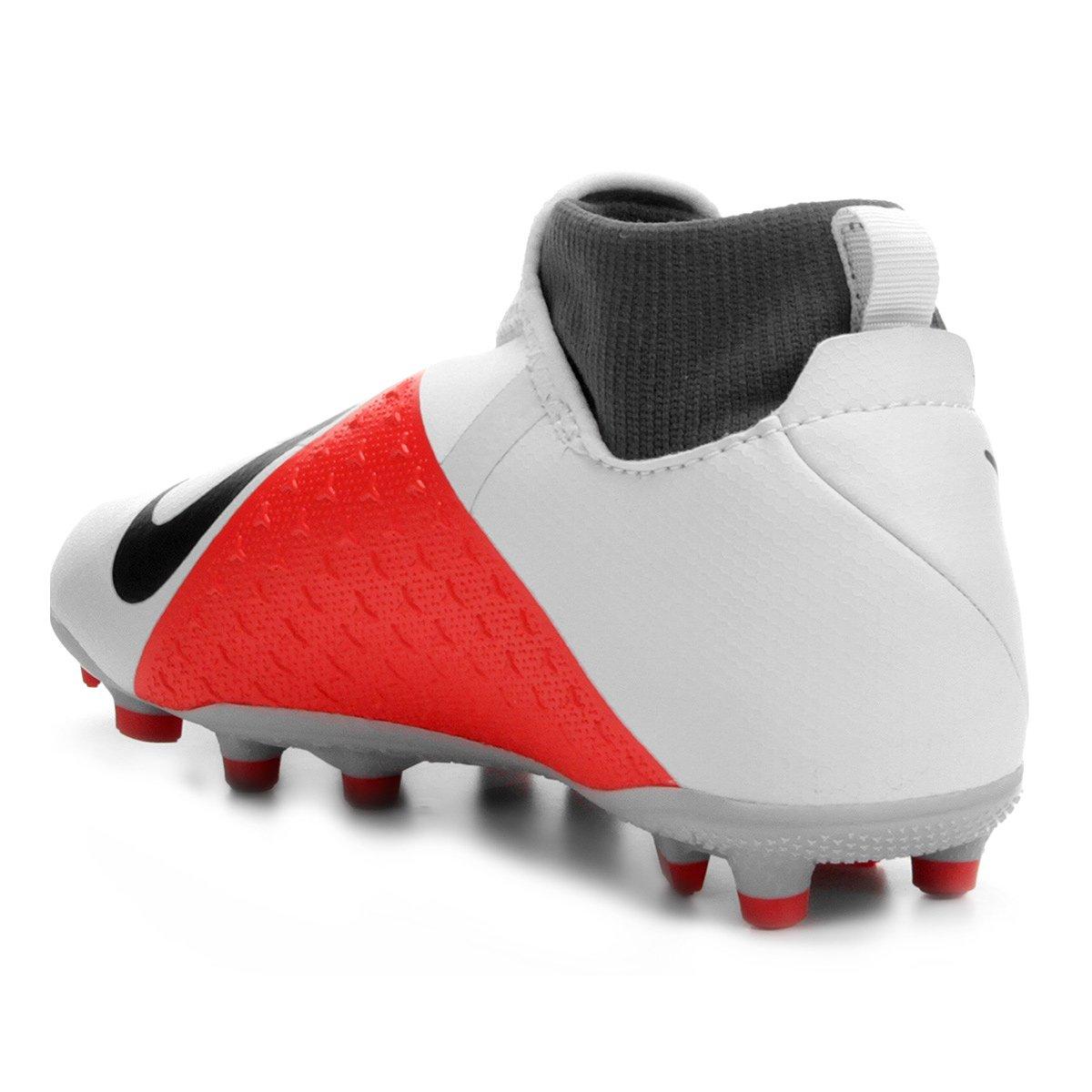 e54112079c Chuteira Campo Infantil Nike Phantom Vision Academy DF FG - Cinza ...