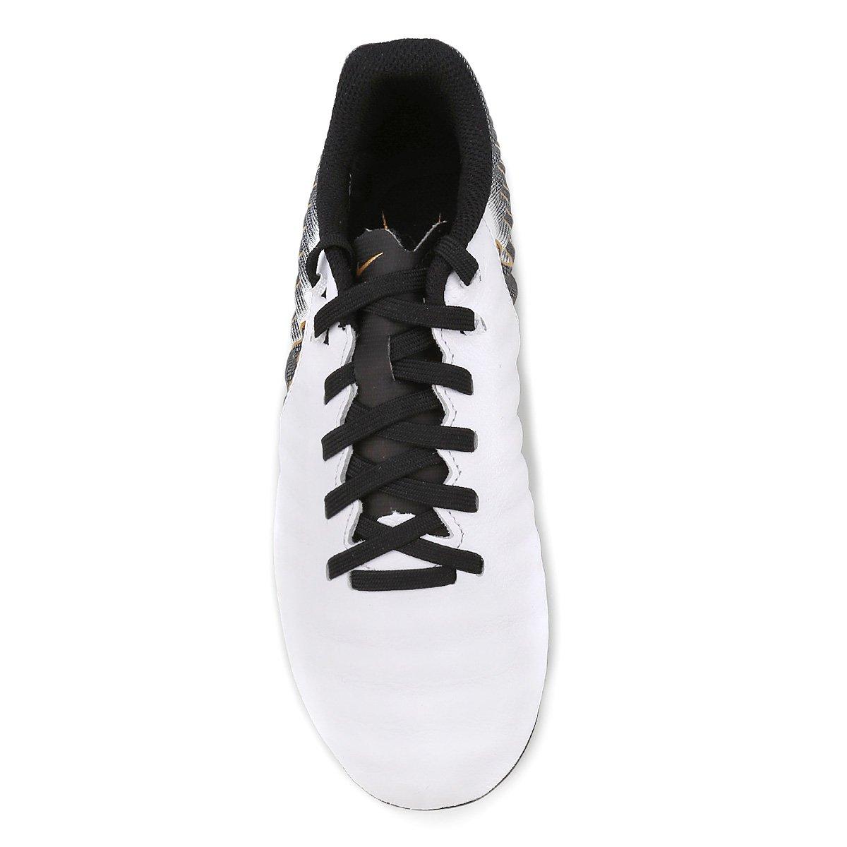 Chuteira Campo Infantil Nike Tiempo Legend 7 Academy FG - Branco e ... 719f86bb06552