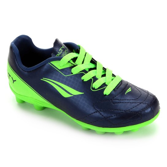 Chuteira Campo Infantil Penalty K Soccer Matis VIII - Azul+Verde