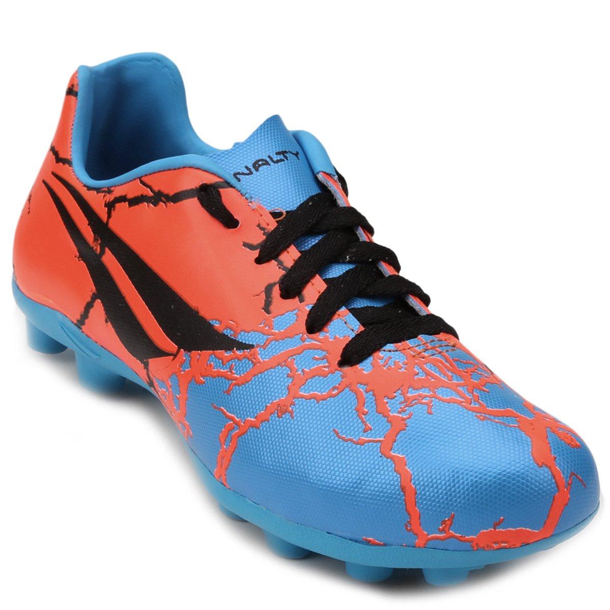 86113ba1e81ea Chuteira Campo Infantil Penalty K Soccer RX 7 - Azul e Laranja - Compre  Agora
