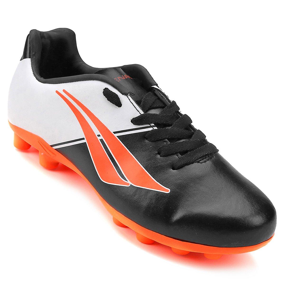 d9bc9d0c2bbf6 Chuteira Campo Infantil Penalty Matis K Soccer 7 - Preto e Laranja - Compre  Agora