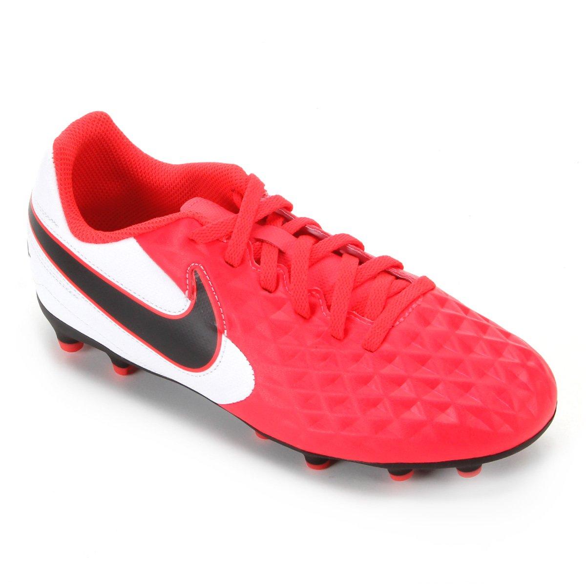 disponibilidad en el reino unido mejor sitio web imágenes oficiales Chuteira Campo Juvenil Nike Tiempo Legend 8 Club FG/MG - Vermelho ...